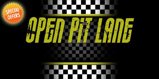 open pit lane - lunedì 31 ottobre - special offer