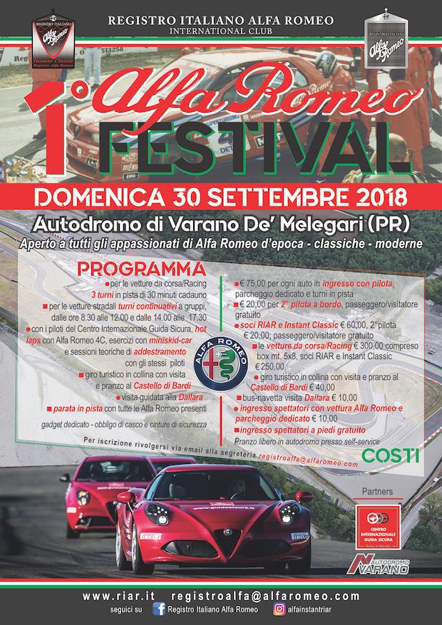 1 ALFA ROMEO FESTIVAL pagina pubblicitaria A4